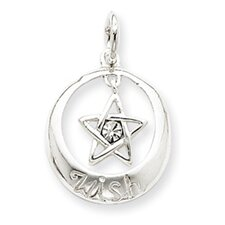 Sterling Silver With swarovski Crystal Wish Star Pendant