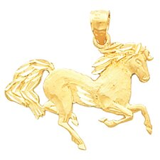 14k Yellow Gold Horse Pendant19x26mm