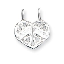 Sterling Silver Mother Daughter 2-Piece Break Apart Charm