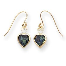 Heart Cut Opal Stud Earrings
