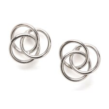 14k White Gold Love Knot Earrings