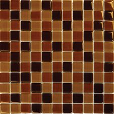"12"" x 12"" Crystallized Glass Mosaic in Brown Blend"