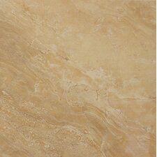 "Pietra Royal 12"" x 12"" Porcelain Polished Floor and Wall Tile in Glazed"
