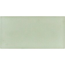 "Arctic Ice 12"" x 6"" Glass Wall Tile in White"