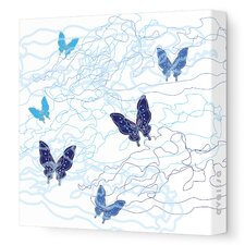 Imagination - Butterfly Trails Stretched Wall Art