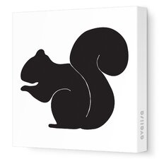 Silhouette - Squirrel Stretched Wall Art