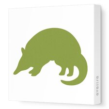 Silhouette - Armadillo Stretched Wall Art