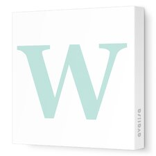 Letter - Upper Case 'W' Stretched Wall Art