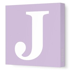 Letter - Upper Case 'J' Stretched Wall Art