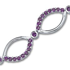Guaranteed to Bring You Compliments Round Cut Gemstone Bracelet in Sterling Silver