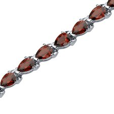 Magnificent Desire Pear Shaped Gemstone Bracelet in Sterling Silver