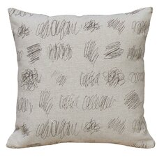 Scribbles 100% Linen Screen Print Pillow