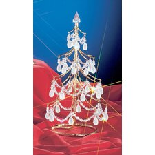 "Cheryls 1' 4"" Grapes Frosted Artificial Christmas Tree"