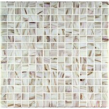 "Bronze/Gold Monocolor 13"" x 13"" Glass Mosaic in Bianco Monocolor Bronze"