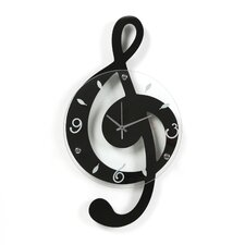 Musical Cleff Wall Clock