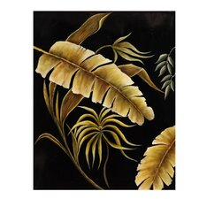 Stunning Ferns in Black Canvas