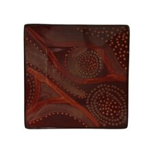 "Organic Brown 8"" Square Salad Plate (Set of 4)"