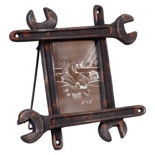 Distressed Wrench Tabletop Easel Picture Frame