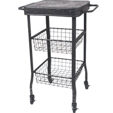 Metal 2 Drawer Rolling Cart