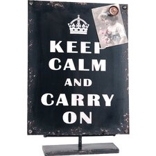 'Keep Calm ...' Wood Decor