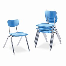 "3000 Series 16"" Plastic Classroom Stackable Chair"