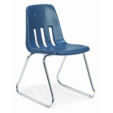 "9000 Series 16"" Polyethylene Classroom Sled Chair"