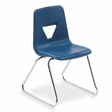 "2000 Series 18"" Polypropylene Classroom Sled Stacking Chair"