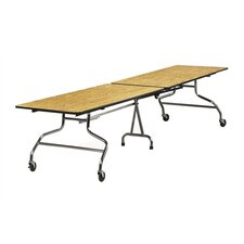 "Rectangular Mobile Duofold Table with T-mold Edge (30"" x 96"")"