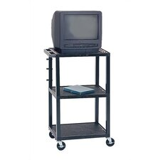 Adjustable Height Audio Visual Cart - Plastic