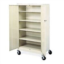 Mobile Storage Cabinet with 4 Adjustable Shelves