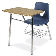 "2000 Series 31"" Plastic Chair Desk with Bookrack"