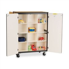 "66"" H Mobile Storage Cabinet with 12 Cubicles"