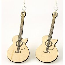 Cut-Away Guitar Earrings