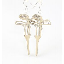 Golf Set on Tee Earrings