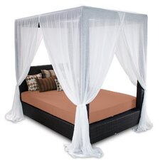 Signature Queen Canopy Bed with Cushions