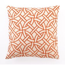 Circle Link Down Filled Embroidered Linen Pillow