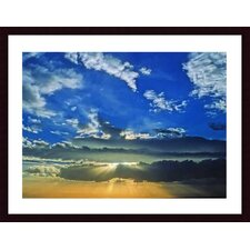 Desert Sunset Wood Framed Art Print