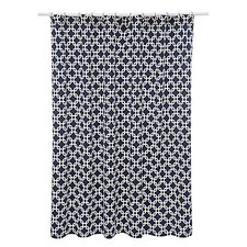 Chain Link Cotton Shower Curtain