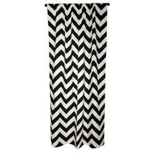 Chevron Cotton  Curtain Single Panel