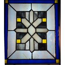 East Avenue Canterbury Snowflake Stained Glass
