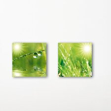 Deco Glass A New Day Wall Decor (Set of 2)