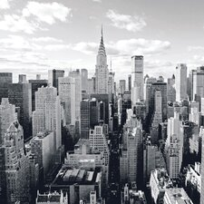 Deco Glass Skyline of Manhattan Wall Decor