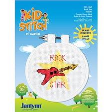 Rock Star Counted Cross Stitch Kid