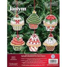 Christmas Cupcake Ornaments Counted Cross Stitch (6)
