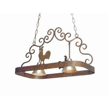 Poulet 2 Light Hanging Pot Rack