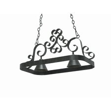 Hayley 2 Light Hanging Pot Rack