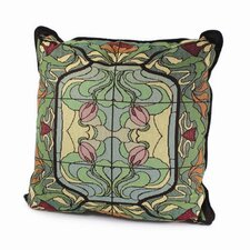 Arts and Crafts Thistle and Rose Bud Pillow