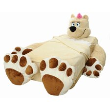Cozy Cuddly Comfort Blankie with Fuzzy Brown Bear Signature