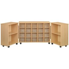 Eco Laminate Preschool Tri Fold Sectional with Trays