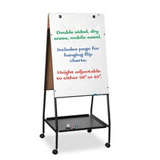 Wheasel Easel Adjustable Melamine Dry Erase Board, 28-3/4 x 59-1/2, White